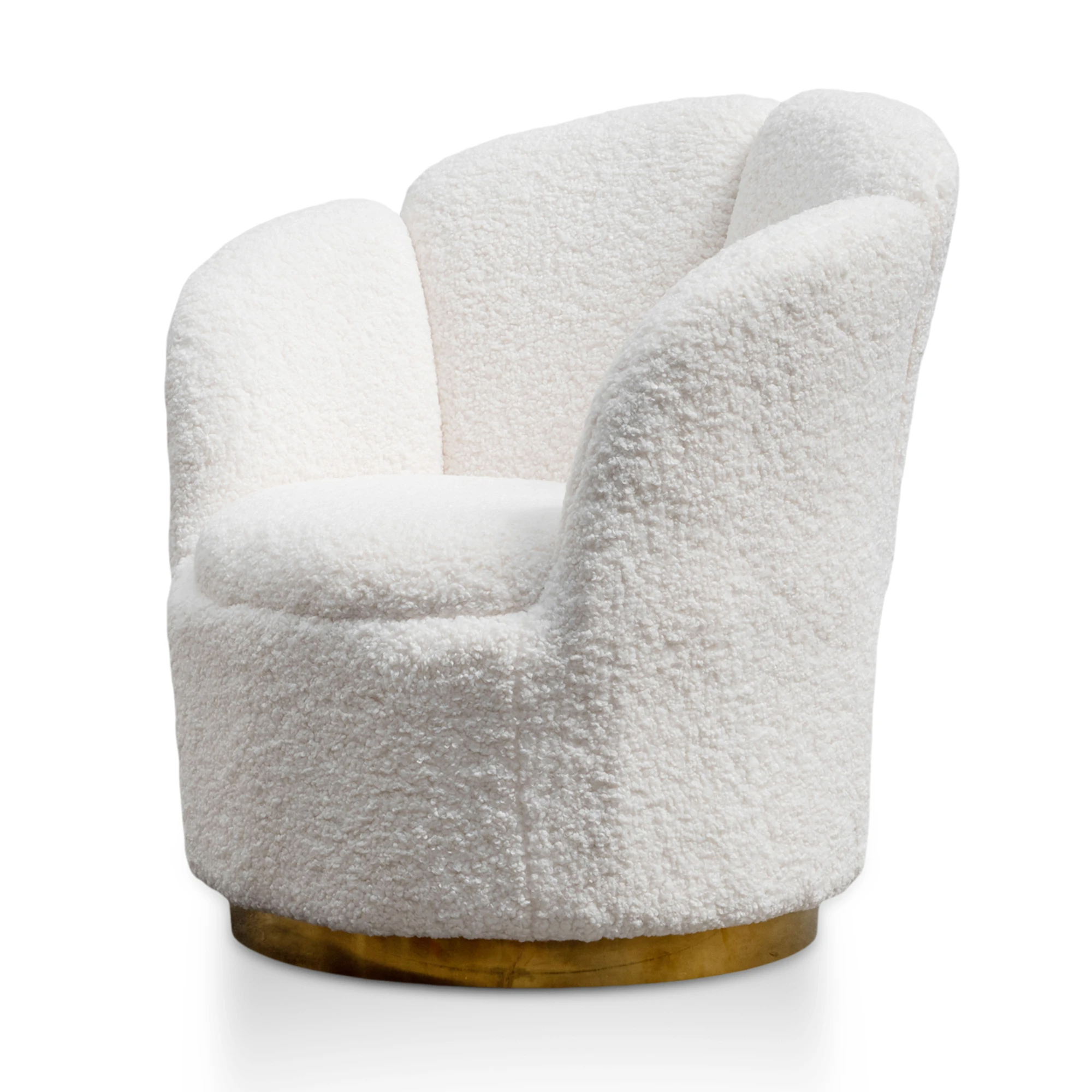 Elmer-Lounge-Chair-White-Synthetic-Wool-with-Brass-Gold-Base