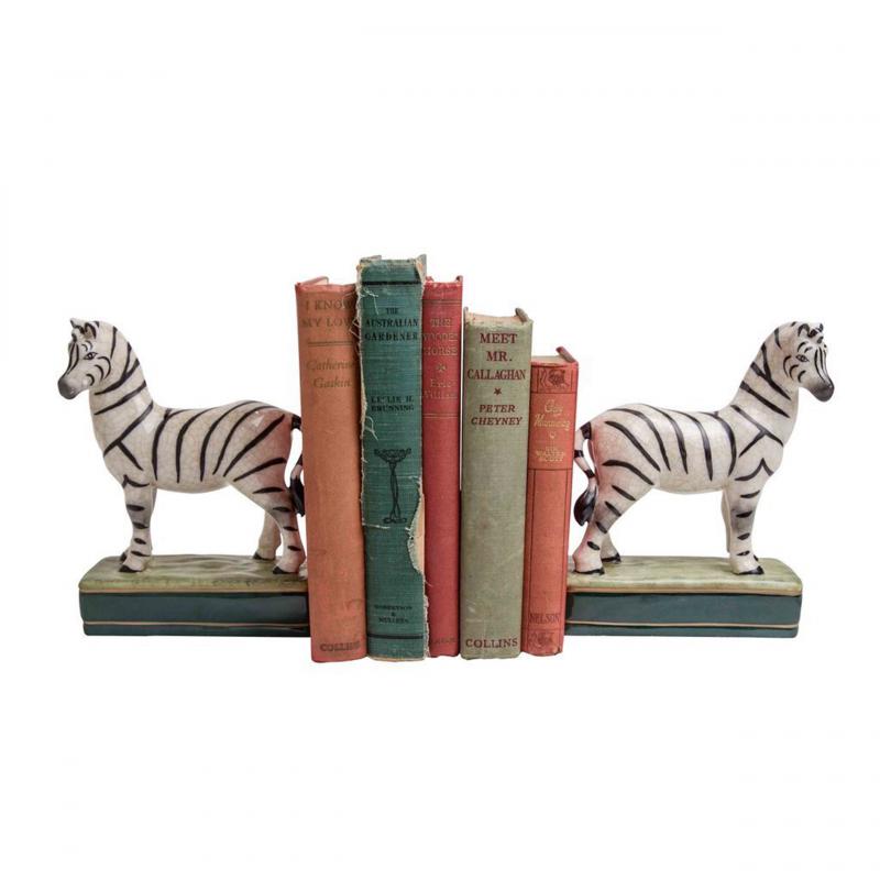 Zebra-Bookends