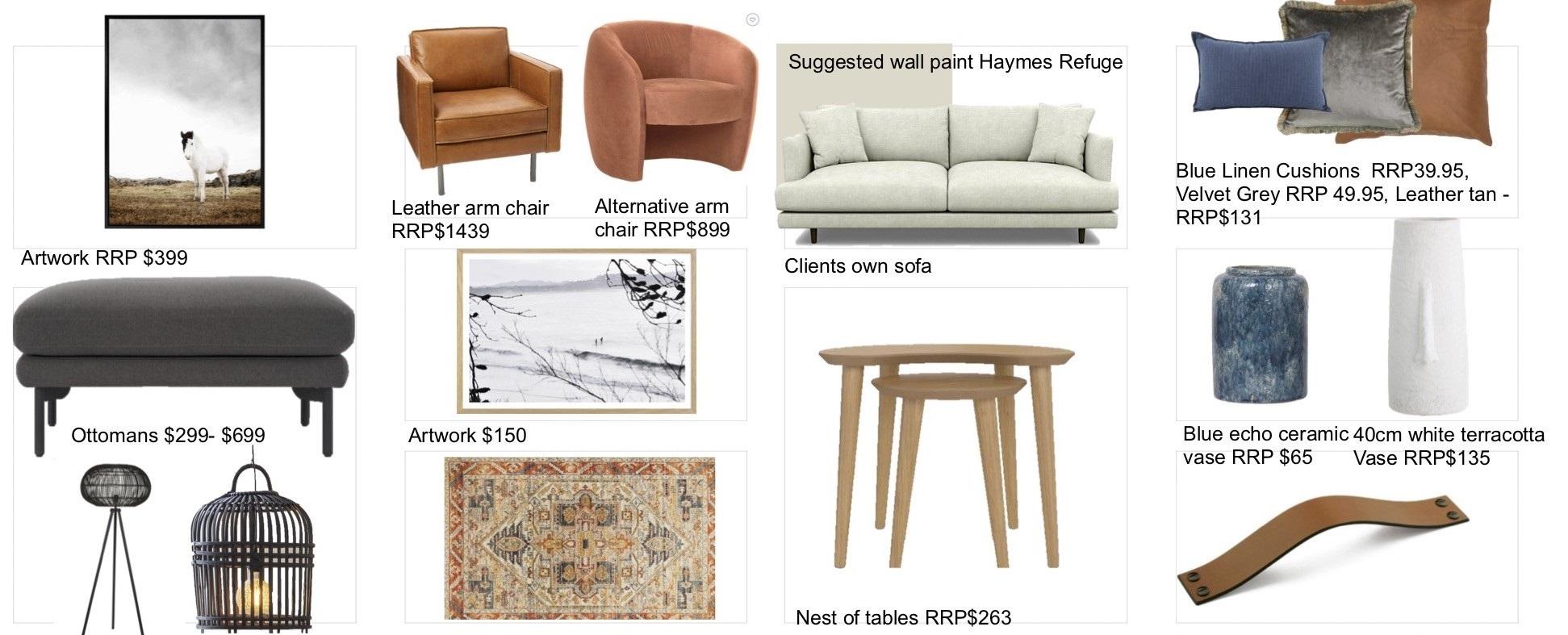 Final Shopping List for Judea's Living Room